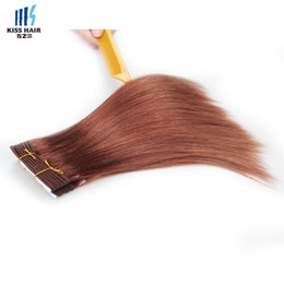 Wholesale Red Brazilian Hair - 100g Remy Hair Bundles Color 33 Rich Copper Red Dark Auburn Silk Straight Body Wave Deep Curly Quality Brazilian Human Hair Weave Bundles