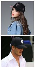Wholesale Ny Caps Snapbacks - Baseball Cap NY Embroidery Letter Sun Hats Adjustable Snapback Hip Hop Dance Hat Summer New York Yankees Outdoor Men Women