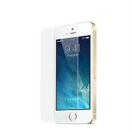 Wholesale Iphone 5s Mm - Tempered Glass For iPhone 5 5s Glass 0.26 mm Screen Protection Film For Iphone 5 5s Glass Scratch Proof Easy to Install Screen Protector