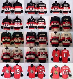 Wholesale C 19 - Captain C Patch 65 Erik Karlsson Jersey Mens Ottawa Senators 6 Bobby Ryan 25 Chris Neil 11 Daniel Alfredsson 19 Jason Spezza Jerseys