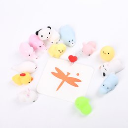 Wholesale panda mouse - Squishy Seal Pup Panda Tiger Mouse Cat Rabbit Reduce Pressure Squishies Plaything Abreact Soothing Mood Squeezed Toy 1 32me C
