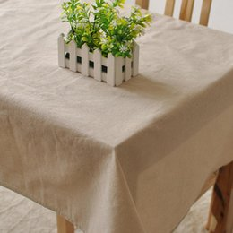 Wholesale Tablecloths Wholesale For Weddings Free - Modern Simple pure color cotton linen rectangle tablecloth cover for Wedding Party Home table cloth textile decoration 7 sizes free shipping