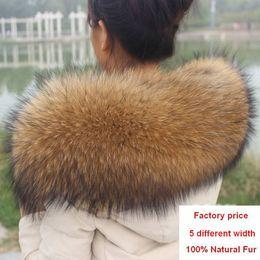 Wholesale Men Winter Sweater Fur - Wholesale- Winter 100% Genuine Real Natural Raccoon Fur Collar Women Scarf Fashion Coat Sweater Scarves Luxury Raccoon Fur Neck Cap R1