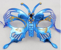 Wholesale Mask Painting Butterfly - butterfly fashion newest woman painting mask party and venience happy dance
