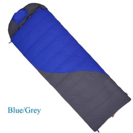 Wholesale Down Light Can - Wholesale- Goose down Filling 400g 600g 800g 1000g Super light adult goose down autumn winter envelope sleeping bag can spliced as couple