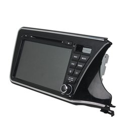 Wholesale Dvd Car Honda City - 9inch HD Screen Car DVD player for Honda City right 2015 andriod 5.1 OS with GPS,Steering Wheel Control,Bluetooth, Radio