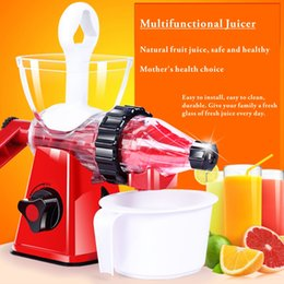 Wholesale Power Drinks - Multi-functional juicer, manual fruit juicer, no power home fruit machine, baby bottle raw material production, fresh fruit health drink.
