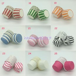 Wholesale Halloween Muffin - Hot Selling 3000pcs Round MUFFIN CAKE Multipel Pattern Paper CUPCAKE CASES Cup Chiffon Cake Holder Liner