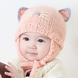 nuove berretti animali carini Sconti Nuovo Autunno Inverno Cute Baby Cartoon Animal Orecchie Cappello Kids Berretto a maglia Ragazze Ragazzi Berretti caldi Bambini Cappelli paraorecchie M72