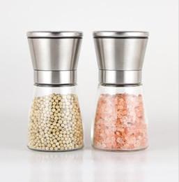 Wholesale Eco Premium - Stainless Steel Manual Salt Pepper Mill Grinder Seasoning Bottle Grinder Glass Kitchen Accessaries Tool Premium Salt Grinder KKA2073