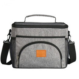 Wholesale Insulate Lunch Bags - Fashion Portable Cloth Cooler Bag Insulated 9L lunch Bag Thermal Food Picnic Lunch Bags Travel Case Cooler Box Can put ice bag