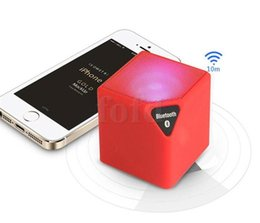 Wholesale Up Portable Stereo - Mini Wireless Portable X3 Bluetooth Speaker TF USB Dice Outdoor Stereo Led Lamp Music Player Subwoofer Box with retail packing 40 PCS UP