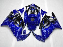 Wholesale Honda F3 Plastics - ABS Plastic Bodywork For Honda CBR600F3 1997-1998 F3 97 98 blue+ Silver flame Aftermarket Fairing