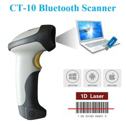 Wholesale smart reader android - Wholesale- Smart USB 1D 10M Wireless Bluetooth Barcode Scanner Barcode Reader support with Ipad Iphone Android Tablet PC+Keyboard Entry