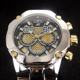 Wholesale Large Diameter - hot sale Invicta Reserve Swiss Chronograph Large dial 52 mm diameter sports men watch Luxury brand watch All functions can work