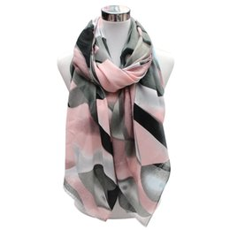 Wholesale Scarf Stoned - 2017 New designer ombre stone pattern printing women winter scarf neckwear 7colors