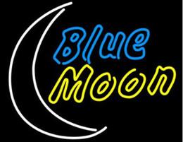2019 vitrines de magasin Blue Moon Néon Signe Personnalisé À La Main En Verre Réel Décoration Fenêtre Art Bar KTV Pub Store Club Publicité Affichage Enseignes Au Néon 19