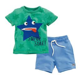 Wholesale Childrens Sportswear - Retail Boys Clothing Sets Boys 2Pcs Sets Tops T-shirt+Short Childrens Clothing Set kids Sportswear Baby Cotton Clothes Kids Outfits