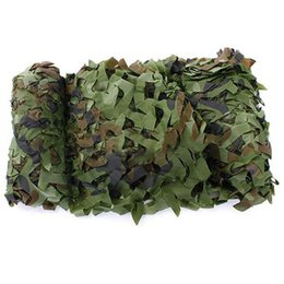camouflage field net Coupons - 5M x 1.5M Outdoor Sun Shelter Net camouflage Netting Hunting Woodland Jungle Tarp Car-covers Tent sun Shelter