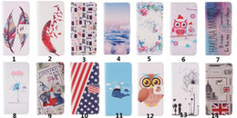 Wholesale Iphone Wallet Case Flag - For Iphone 7 Flip Wallet Leather Cover Drawing Printing Feather Flag With Magnetic Buckle for Iphone 5s 6 6s plus 7 7 plus Samsung S6 S7