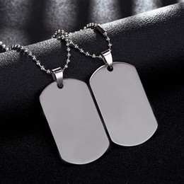 Collar de etiquetas del ejército online-Brand Link Chain Man collar Militar Army Dog Tag Collares Colgantes de Acero Inoxidable Joyería Regalo Gargantilla Al Por Mayor