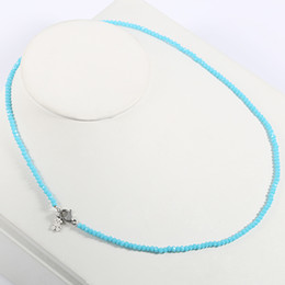 Wholesale Woven Pendant - TL Stainless Steel Beaded Necklace Original Design Weave Necklace For Women Hot Selling 5 Colours 2017