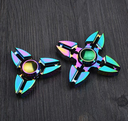 Wholesale Sounding Big - Colorful Rainbow Fidget Spinner Triangle Spinner EDC Toys For Autism And ADHD Children Decompression Anxiety Toys Tri-Spinner Hand Spinners
