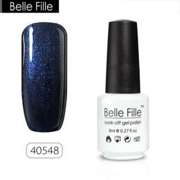 Wholesale Fingernail Polishes - Wholesale- Belle Fille 8ml Gel Nail Polish UV Gel Nail Semi Permanent Polish Gel Varnish Gelpolish Base Top Coat Lacquer Fingernail Polish