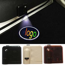 Wholesale Logo Laser Emblem - 1 Set Logo emblem For Maserati Wireless Led Car door Door Projector Laser Light LED Welcome Ghost Shadow Light car styling