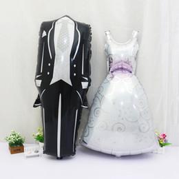 2019 lila partei gläser New Bridegroom Groom Bride Balloon Wedding Decoration Aluminum Foil Balloon Wedding Marriage Decoration Balloons