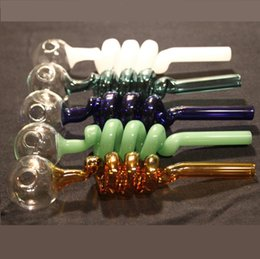 Wholesale Piping Ball - Multi-colors glass pipes Curved Glass Oil Burners Pipes ball Balancer Water Pipe smoking pipes Bubbler Pyrex Oil Burner Pipe Hand Pipe