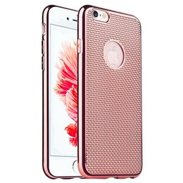 Wholesale Net Mesh Case - Electroplating net case for Iphone 5 5s SE 6 6s Plus Samsung S7 S7 edge Mesh TPU Ultra Thin Net Woven Breathable Plating Back Cover OPPBAG