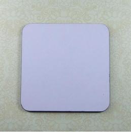 Wholesale Square Melamine - Square shape blank sublimation MDF coaster with protect UV film heat transfer printing hardboard plain mat for mug Q305