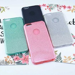 Wholesale Cheapest Water Resistant Phone - For Apple Iphone Ultra-thin Cheapest Luxury Colourful Anti-Fall Waterproof Dirt-resistant TPU Flash Powder Cell Phone Cases