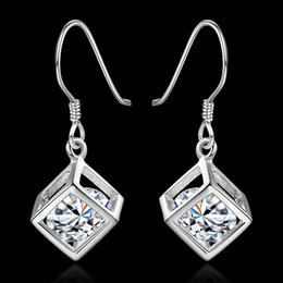 Wholesale Cheap Sterling Silver Jewellery - Dangle earrings sparkling silvers earrings for women cheap fashion 925 chandelier earrings jewellery wedding engagement gifts for Chirstmas