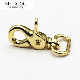 Wholesale Luggage Clasps - 10PCS Metal Clip Big Buckle 25cm Luggage Handles Hardware Accessories Handbag Shoulder Belt Hook Clasp Golden Zinc Alloy