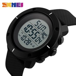 Wholesale Big Clock Digital - New Shock Style Skmei Men Big Dial Sports Watches Multifunction Chronograph 50M Water Resistant Alarm Clock Date Digital Wristwatches