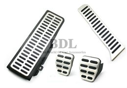 Wholesale Gas Brakes Clutch Pedals - steel parts Stainless Steel Car Footrest clutch brake gas pedal Manual Transmission MT for VW Golf 5 6 MK6 Jetta