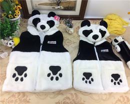 Wholesale Draw Vest - The National Post spring winter children panda cartoon panda baby clothes vest vest parent-child vest