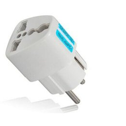 Wholesale Eu Ac Power Socket Plug - Wholesale- Universal AU UK US to EU AC Power Socket Plug Travel Charger Adapter Converter
