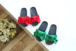 Wholesale Red Clogs - Kids Slipper Summer Cartoon Children's Slippers Bow Casual Matching Flat Shoes Kids Girl Slippers Girls Clog Shoe