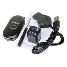Персональный мини-шпион в режиме реального времени GPS Tracker Автомобильный GSM GPRS система слежения с металлическим зажимом - черный от