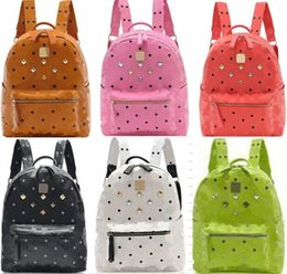 Wholesale Diamante Crowns - 2017 New Arrival Brand Fashion School Bags Hot Punk Style Men Women Backpack Rivet Crown Student Backpack PU Leather Lady Shoulder Bag Bags