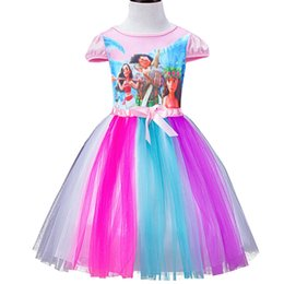 Wholesale Cheap Wholesale Summer Kids Clothes - Girls summer tutu skirts Moana cartoon bbay girl dress children fashion clothing Moana kids clothes Top quality with cheap price