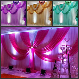 Wholesale Christmas Swags - Special Offer 10ftx20ft sequin wedding backdrop curtain with swag backdrop  wedding decoration romantic Ice silk stage curtains