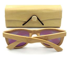 Wholesale Sky Sunglasses - IVSTA Natural Square Bamboo box for Wood Sunglasses Bambu case Laser logo Custom Wooden cases Handcrafted maderia VB0478 free logo custom