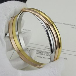 crystal trade Coupons - Low wholesale foreign trade, high quality seamless three ring three color bracelet, Ladies Ring Bracelet Bracelet