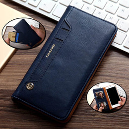 Wholesale Purses Water Resistant - For iPhone6 6S Plus 7 7plus Flip Stand Wallet Leather Case With Photo Frame Phone Cover phone case no buckle adsorption swivel card purse cl