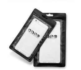 Wholesale Black Ziplock Bags - Retail Bag PVC Plastic Ziplock Black with Half transparent Package for Phone Case Covers Hook Hole 5000pcs