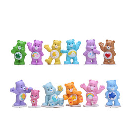 Wholesale bear good - 12Pcs Lot Japanese Anime kawaii Action Figure Care Bears Kids Toys For Boys And Girls